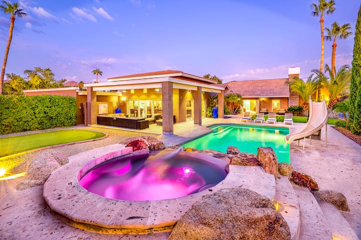 Heated Pool, Spa, Sports Court, Game Room, More