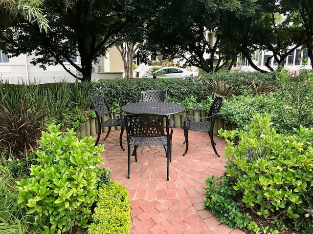 Garden seating available to all guests.