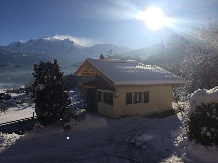 Petit chalet avec vue imprenable sur le Mont-Blanc
