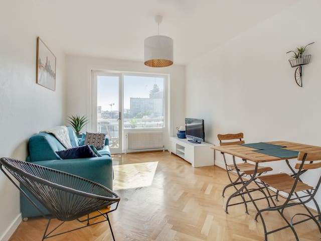 Bright flat with balcony and garage in Part-Dieu district, Lyon - Welkeys