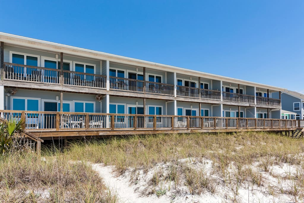 Back of Condo from Beach
