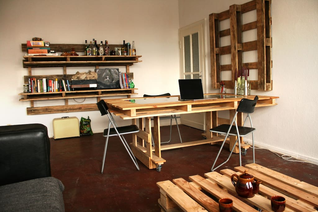 Our living-working space, you are welcome to use