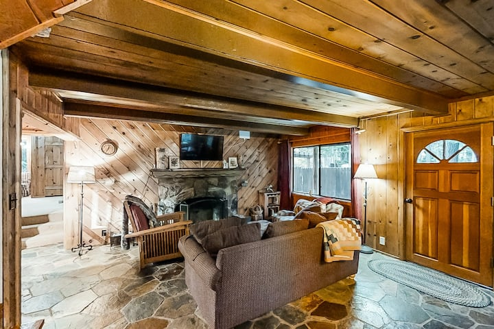New listing! Rustic family cabin w/ private hot tub & large yard near the lake!