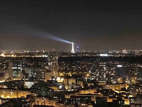 Studio avec vue panoramique sur Paris