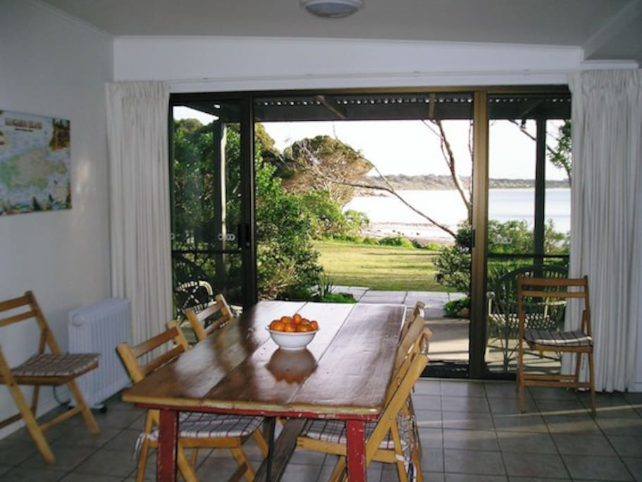 Dining area onto deck