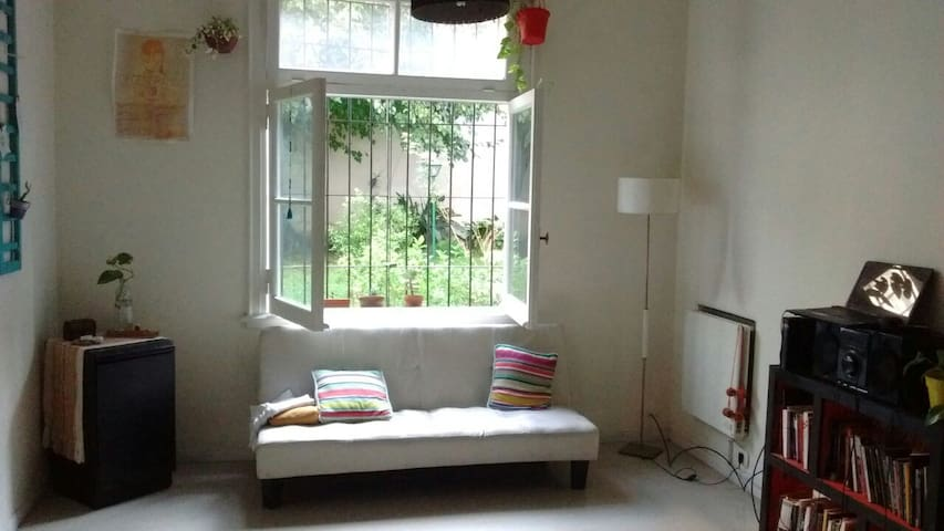 Amplia habitación en dpto luminoso c/ jardín - Buenos Aires - Pokój gościnny