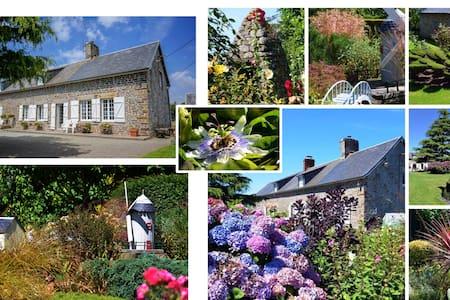 Longère Normande et ses superbes jardins paysagés - Le Mesnil-Villeman - Rumah Tamu