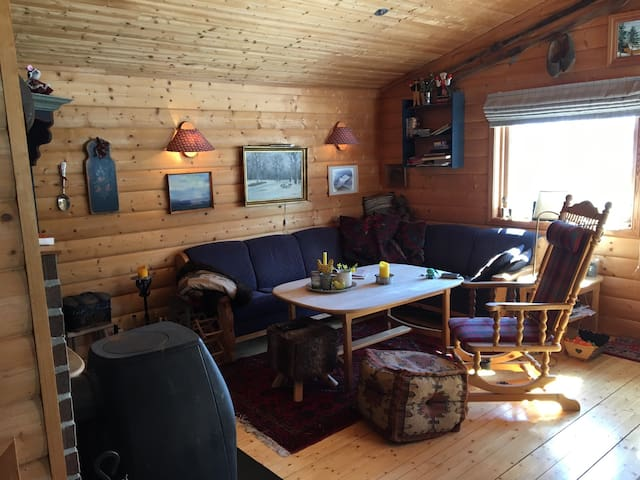 Authentic cabin- in skiing, fishing, hunting area! - Samnanger kommune - Cabana