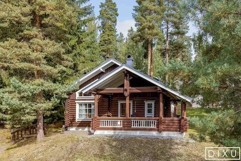 Mukava 64 m2mökki Himoksella Nice cottage in Himos
