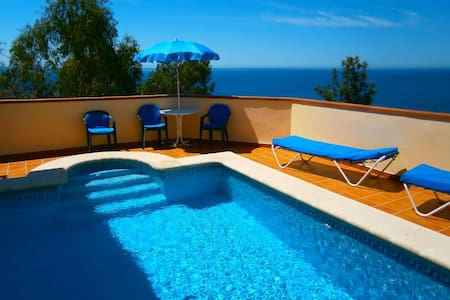 VILLA WITH POOL NEXT TO THE SEA IN NERJA MALAGA SPAIN