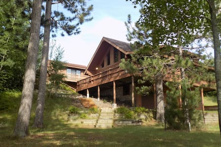 Beautiful Log Home on Peaceful Lake + Guest Cabin - Pequot Lakes