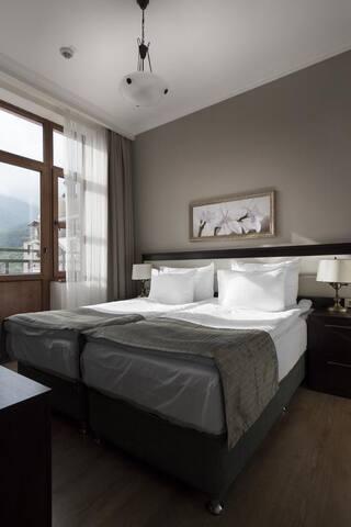 Апартаменты 2 спальни (размещение до 4х человек)