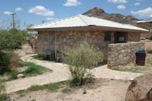 Terlingua Ranch Lodge shower facilities for guests of Tin Valley...only 4 miles away.