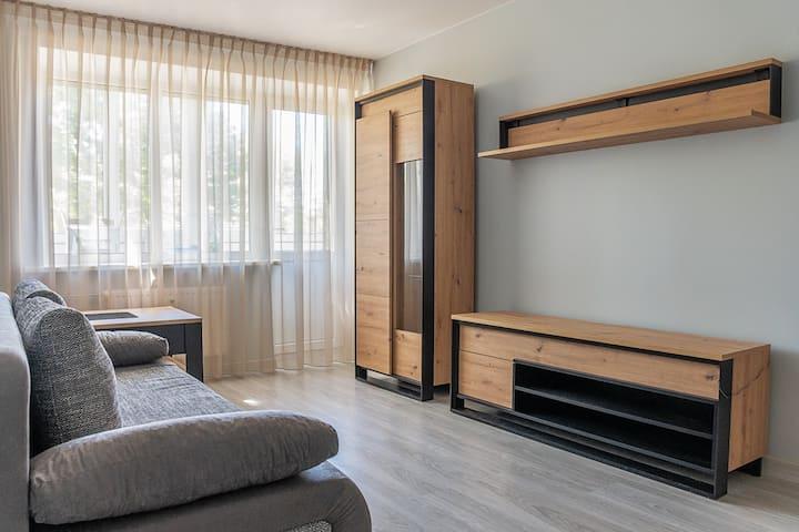 Уютная квартира с балконом  напротив  Акрополя