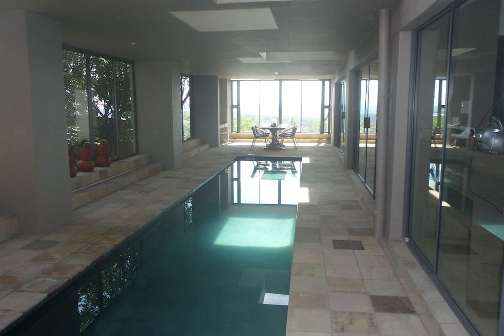 Indoor lap pool at the main house