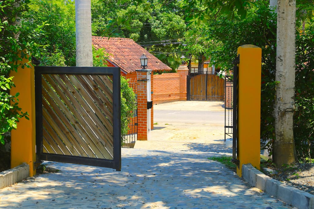 Private entrance at the Gated community