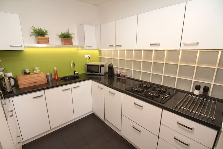 Cook up a meal in a fully equipped kitchen!