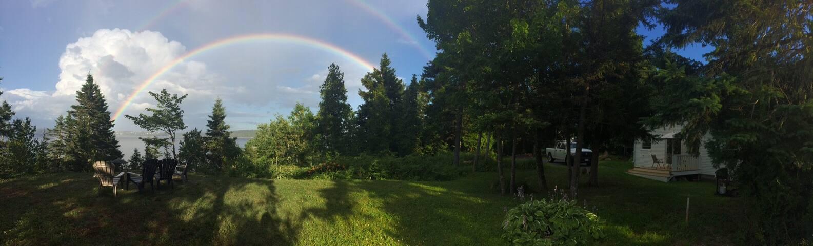 Rainbow over Windwood Point