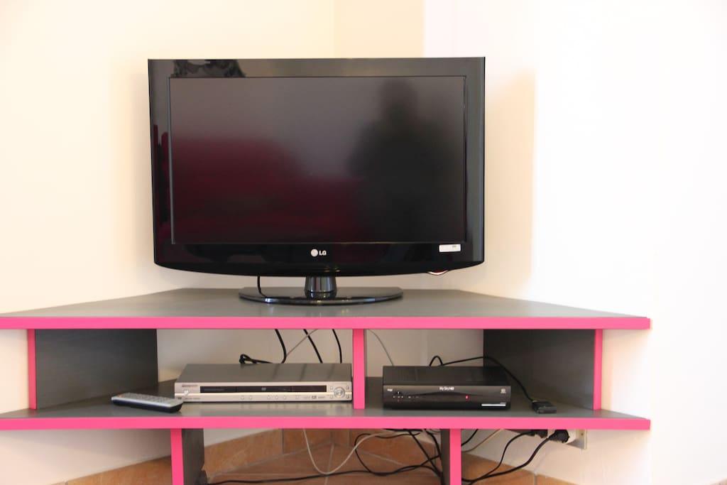 Tv  nel soggiorno