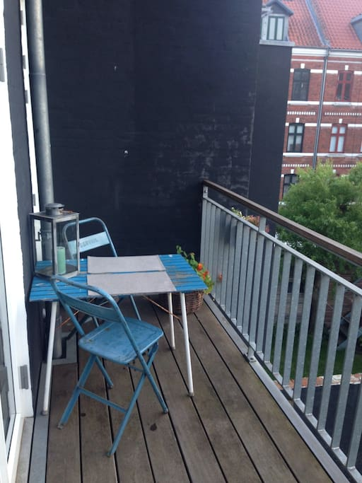 The balcony, which can be accessed from the living room.