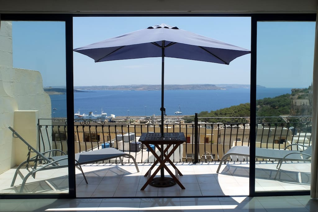 Panoramic Seaview Penthouse - as seen from the huge 1st balcony