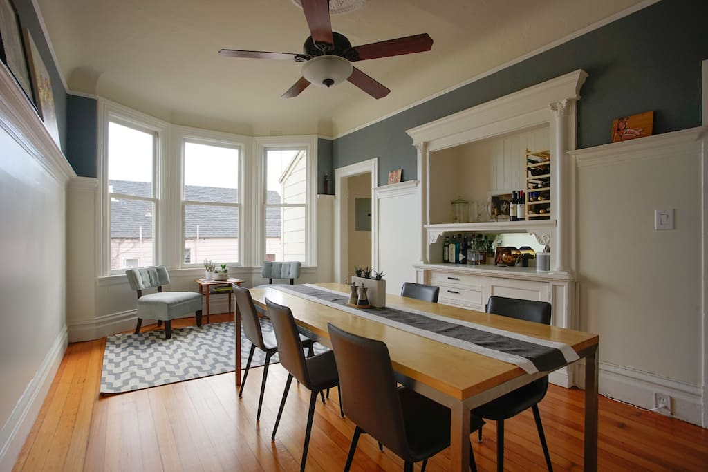 Huge dining room, where you are welcome to hangout