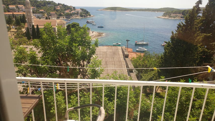 """Dream escape Apart HVAR Town"" (Center)SEA view"
