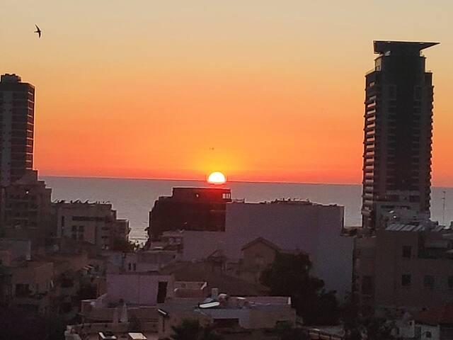 Chambre à louer, centre Tel-Aviv avec vue sur mer