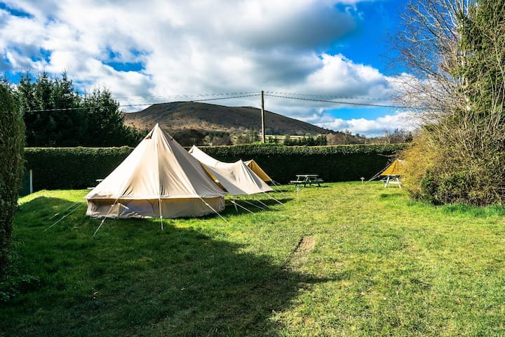 Glamping in our Classic Canvas Bell Tent