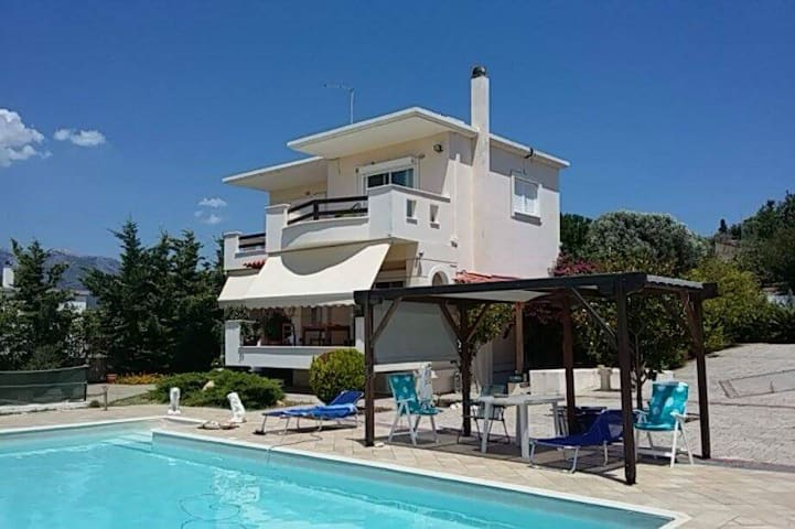 Two floor house - villa - at Evia - Ano Vathia