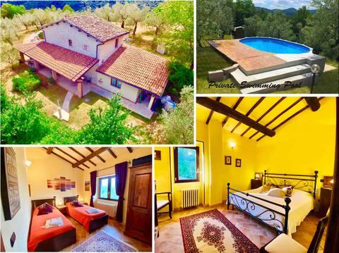 Villa Nocri • Peaceful mansion in Italy