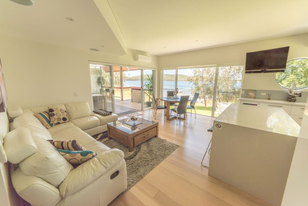 Beautifully appointed open living