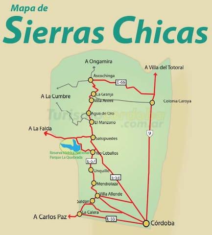 Mapa  Sierras  Chicas