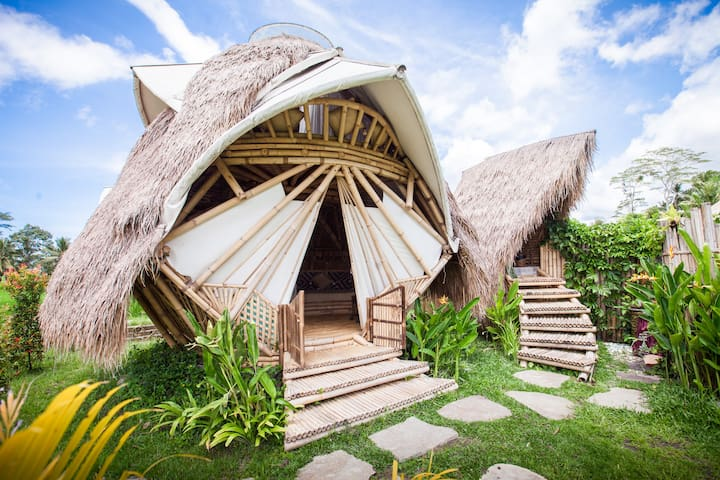 NewEarth Haven - Amethyst Crystal Dome - Ubud - Bungalow