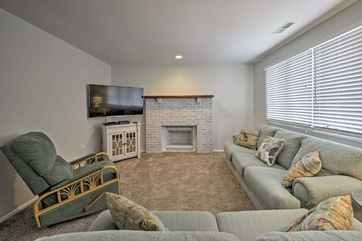 Sprawl out on the sofa while you surf channels on this flat-screen cable TV.