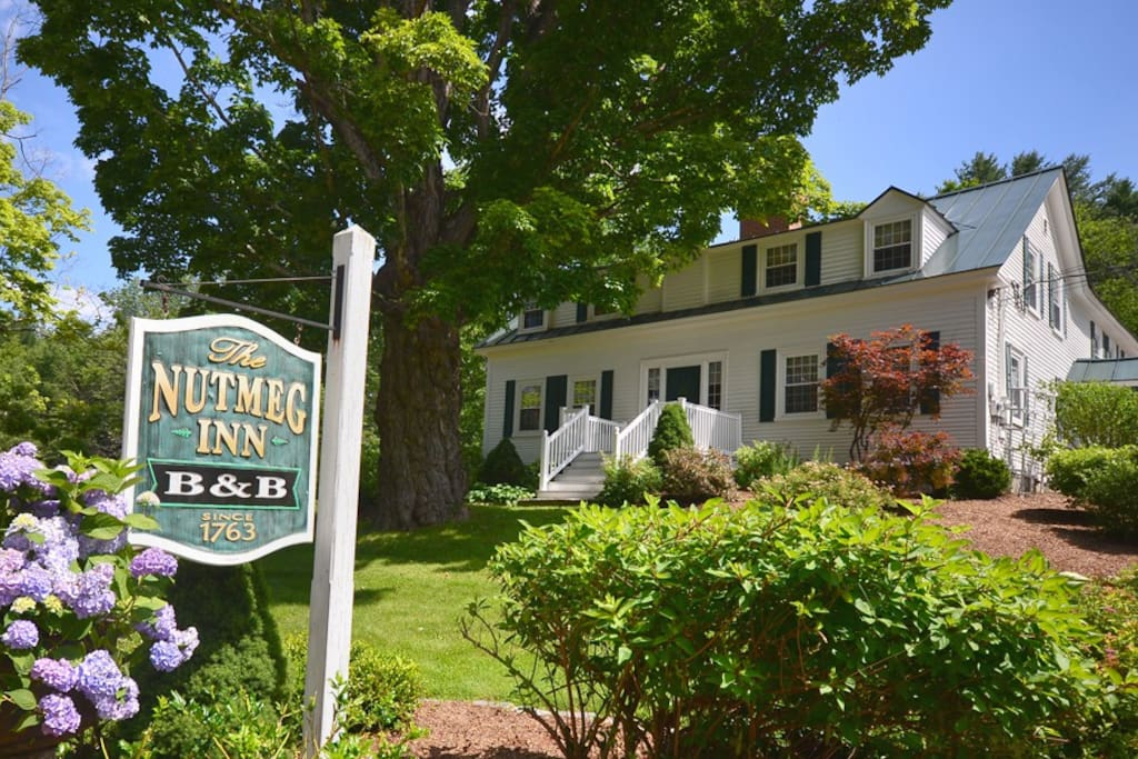 The Nutmeg Inn is located on 8 acres and is a great place to relax.