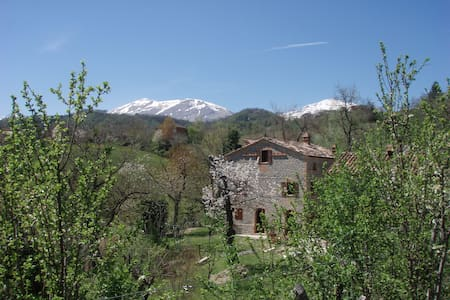 Immersed in nature, mountain views - Montefortino