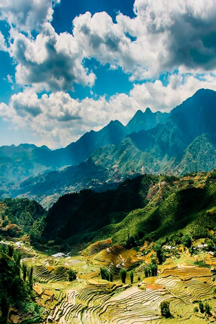 The panorama view of Muong Hoa valley