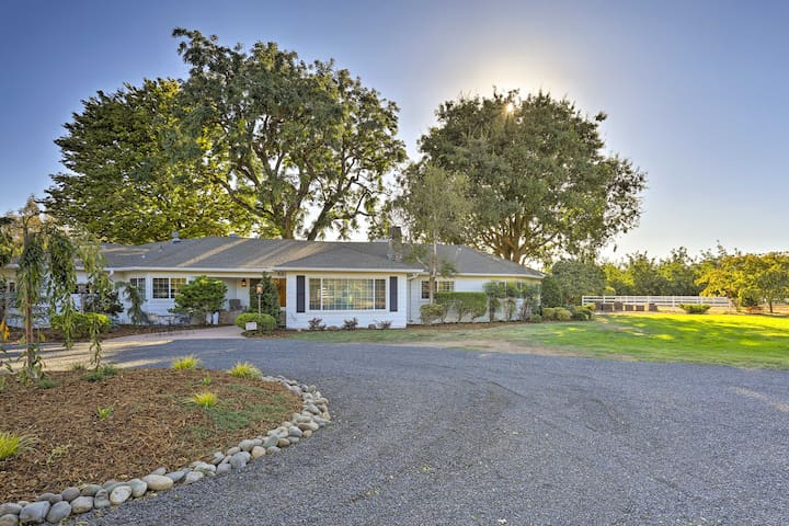 Charming Chico Ranch Home on 2.5 Acres w/Courtyard