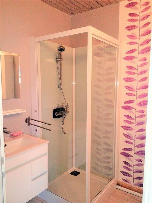 Chambre F : Salle de bain (avec WC) privative