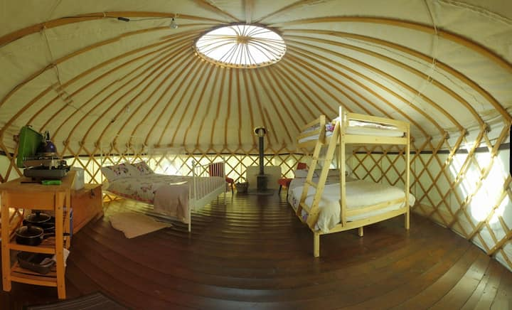 Beautiful Red Kite Yurt at Cledan Valley