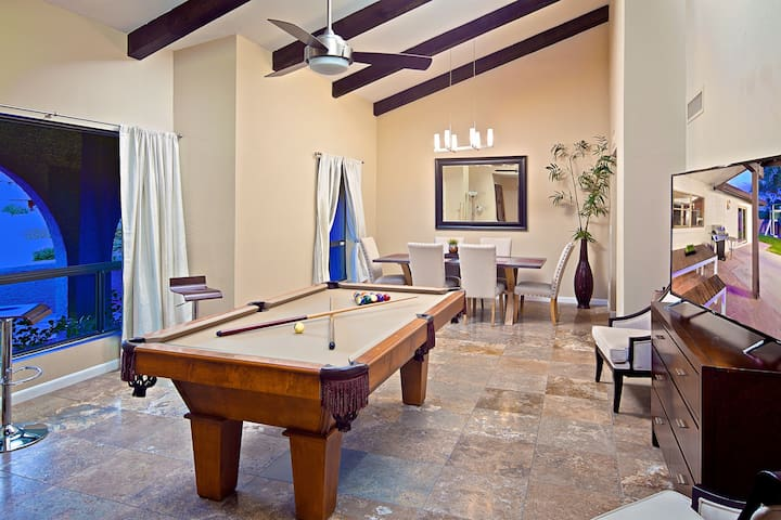 Private Volleyball Court, Game Room, Heated Pool