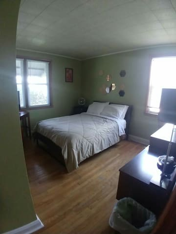 Green and groovy room in Baltimore