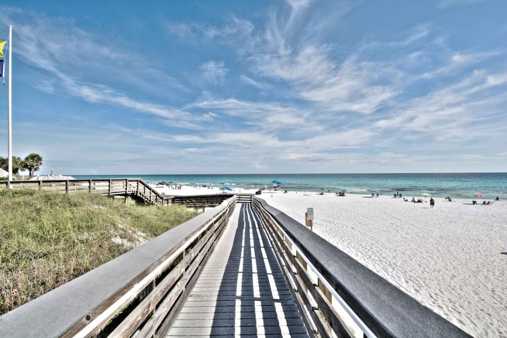 Handicap Accessible Beach Access - Steps from Go Fish to Beach!  Beach Rentals available from local vendors!