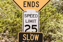 When you see this sign turn left onto Sombrero Peak/Marathon Road