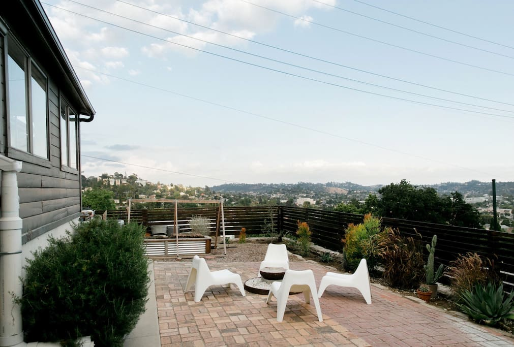 Outdoor seating and amazing views