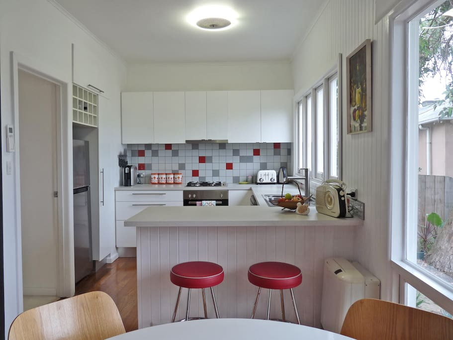 Sparkling fully equipped modern kitchen with everything you need to make fabulous food!