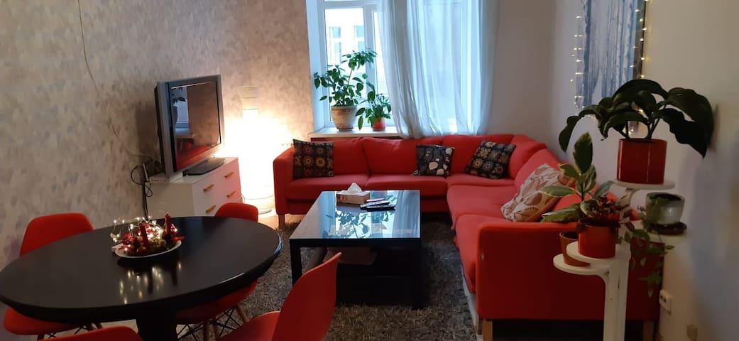 A cosy room in a big flat