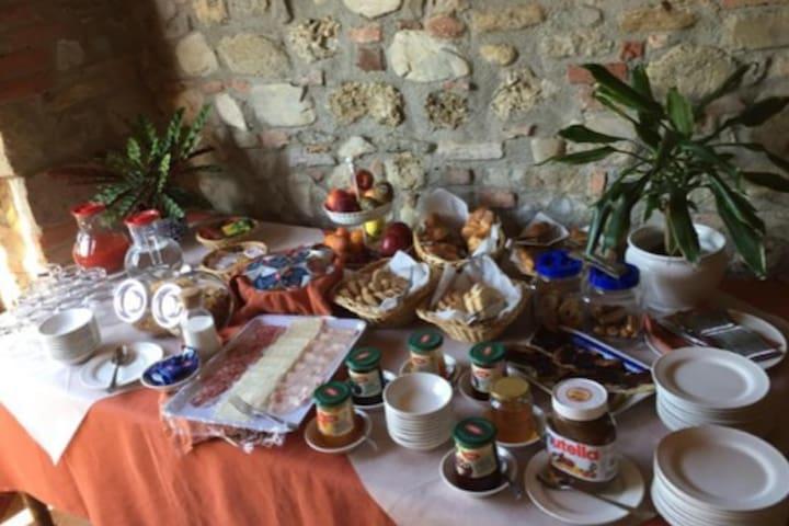 La colazione è servita dalle 8:00 alle 10:00