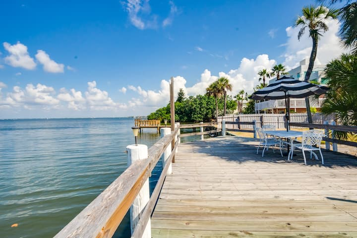 RIVERFRONT community with very short walk to BEACH